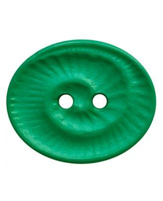 Polyamidknopf oval mit 2 Löchern - Größe:  23mm - Farbe: grün - ArtNr.: 348824