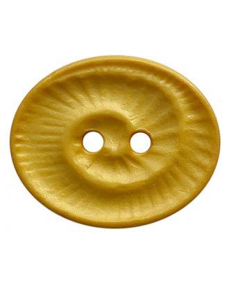 Polyamidknopf oval mit 2 Löchern - Größe:  18mm - Farbe: gelb - ArtNr.: 318838