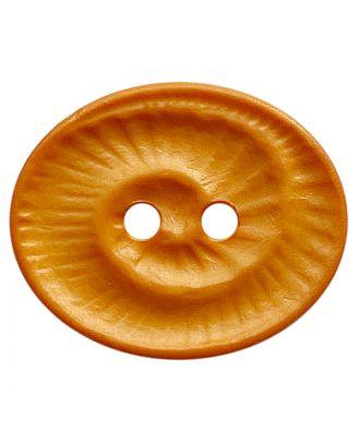 Polyamidknopf oval mit 2 Löchern - Größe:  18mm - Farbe: orange - ArtNr.: 318839