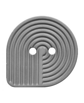 Polyamidknopf oval mit 2 Löchern - Größe:  32mm - Farbe: grau - ArtNr.: 382007