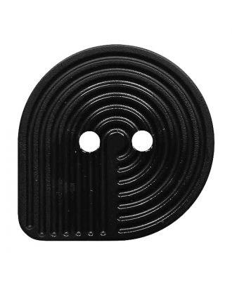 Polyamidknopf oval mit 2 Löchern - Größe:  20mm - Farbe: schwarz - ArtNr.: 311136