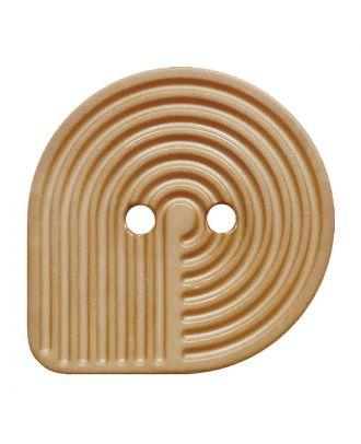 Polyamidknopf oval mit 2 Löchern - Größe:  25mm - Farbe: beige - ArtNr.: 342008