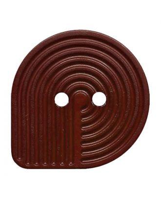 Polyamidknopf oval mit 2 Löchern - Größe:  32mm - Farbe: braun - ArtNr.: 382009