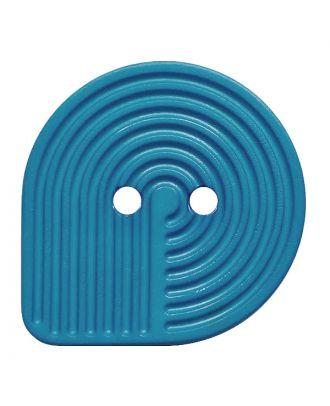Polyamidknopf oval mit 2 Löchern - Größe:  20mm - Farbe: blau - ArtNr.: 312004