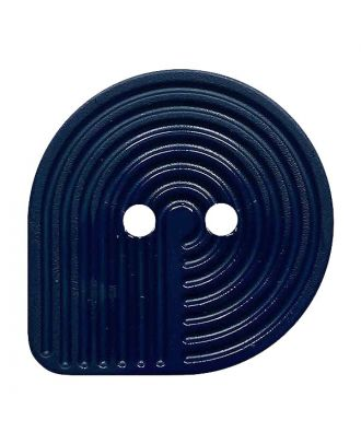 Polyamidknopf oval mit 2 Löchern - Größe:  32mm - Farbe: dunkelblau - ArtNr.: 382011