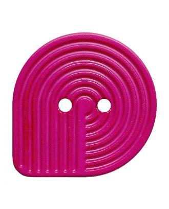 Polyamidknopf oval mit 2 Löchern - Größe:  32mm - Farbe: pink - ArtNr.: 382014