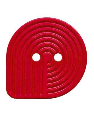 Polyamidknopf oval mit 2 Löchern - Größe:  32mm - Farbe: rot - ArtNr.: 382015