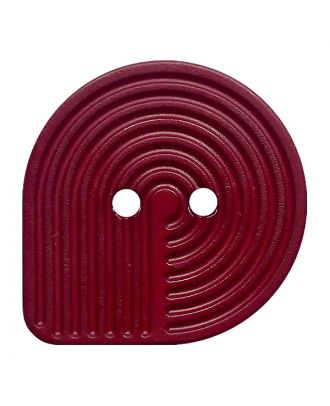 Polyamidknopf oval mit 2 Löchern - Größe:  32mm - Farbe: weinrot - ArtNr.: 382016
