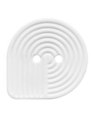 Polyamidknopf oval mit 2 Löchern - Größe:  32mm - Farbe: weiß - ArtNr.: 380425