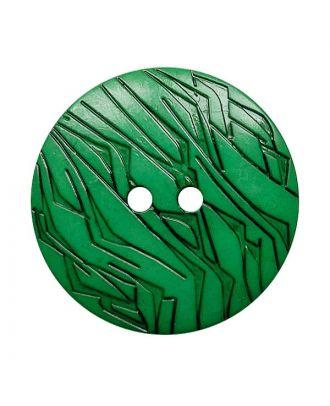 Polyamidknopf rund mit schwarzem Lack und 2 Löchern - Größe:  18mm - Farbe: grün - ArtNr.: 312026