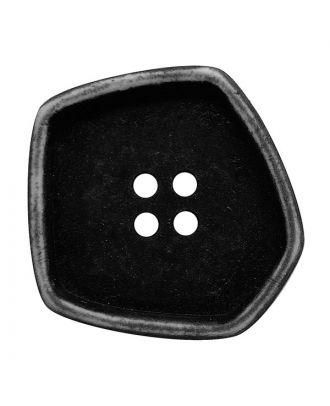 """Polyamidknopf quadratisch im """"Vintage Look"""" mit 4 Löchern - Größe:  20mm - Farbe: schwarz - ArtNr.: 331247"""