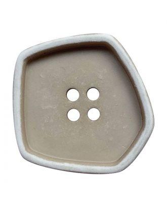 """Polyamidknopf quadratisch im """"Vintage Look"""" mit 4 Löchern - Größe:  25mm - Farbe: beige - ArtNr.: 372011"""
