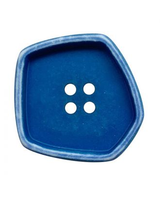 """Polyamidknopf quadratisch im """"Vintage Look"""" mit 4 Löchern - Größe:  20mm - Farbe: blau - ArtNr.: 332007"""