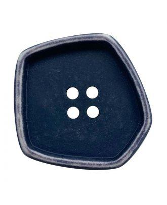 """Polyamidknopf quadratisch im """"Vintage Look"""" mit 4 Löchern - Größe:  20mm - Farbe: dunkelblau - ArtNr.: 332008"""