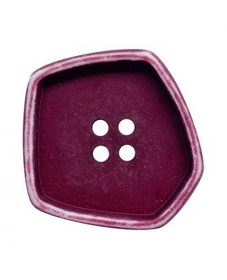 """Polyamidknopf quadratisch im """"Vintage Look"""" mit 4 Löchern - Größe:  20mm - Farbe: brombeer - ArtNr.: 332009"""