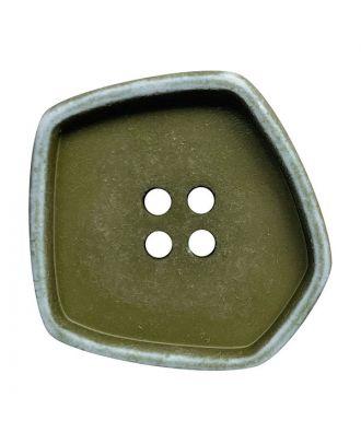 """Polyamidknopf quadratisch im """"Vintage Look"""" mit 4 Löchern - Größe:  20mm - Farbe: khaki - ArtNr.: 332010"""