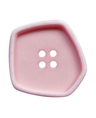 """Polyamidknopf quadratisch im """"Vintage Look"""" mit 4 Löchern - Größe:  30mm - Farbe: rosa - ArtNr.: 392007"""