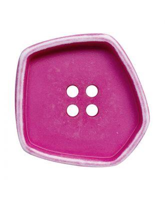 """Polyamidknopf quadratisch im """"Vintage Look"""" mit 4 Löchern - Größe:  30mm - Farbe: pink - ArtNr.: 392008"""