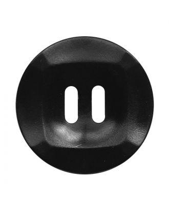 Polyamidknopf rund mamoriert mit 2 Löchern - Größe:  20mm - Farbe: schwarz - ArtNr.: 331249