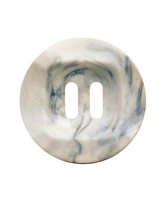 Polyamidknopf rund mamoriert mit 2 Löchern - Größe:  25mm - Farbe: beige - ArtNr.: 372021