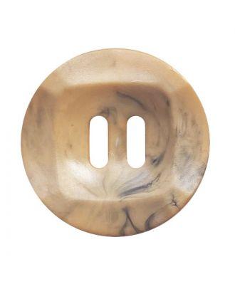 Polyamidknopf rund mamoriert mit 2 Löchern - Größe:  25mm - Farbe: beige - ArtNr.: 372022