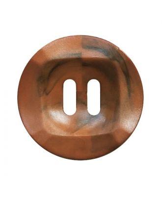 Polyamidknopf rund mamoriert mit 2 Löchern - Größe:  20mm - Farbe: braun - ArtNr.: 332017