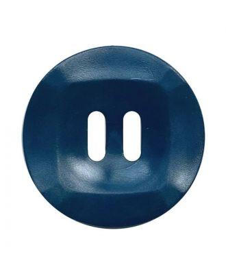 Polyamidknopf rund mamoriert mit 2 Löchern - Größe:  20mm - Farbe: dunkelblau - ArtNr.: 332019