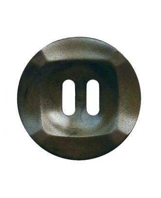 Polyamidknopf rund mamoriert mit 2 Löchern - Größe:  20mm - Farbe: khaki - ArtNr.: 332020