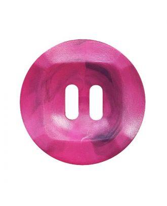 Polyamidknopf rund mamoriert mit 2 Löchern - Größe:  20mm - Farbe: pink - ArtNr.: 332022