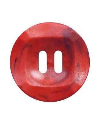 Polyamidknopf rund mamoriert mit 2 Löchern - Größe:  20mm - Farbe: rot - ArtNr.: 332023