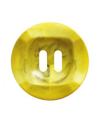 Polyamidknopf rund mamoriert mit 2 Löchern - Größe:  20mm - Farbe: gelb - ArtNr.: 332024