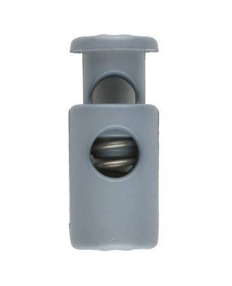 Kordelstopper rund mit Feder - Größe: 28mm - Farbe: grau - Art.Nr. 281071