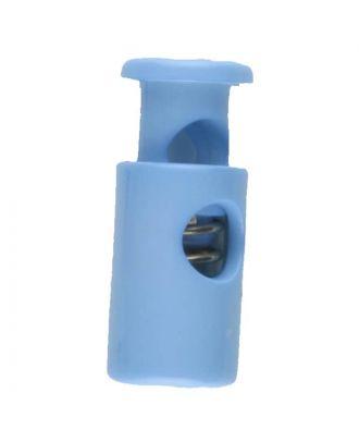 Kordelstopper rund mit Feder - Größe: 28mm - Farbe: blau - Art.Nr. 280558