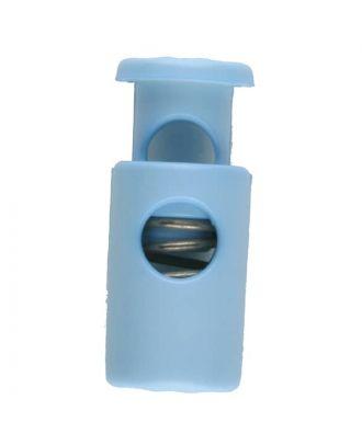 Kordelstopper rund mit Feder - Größe: 28mm - Farbe: blau - Art.Nr. 281073