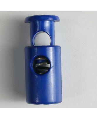 Kordelstopper rund mit Feder - Größe: 28mm - Farbe: blau - Art.Nr. 280560