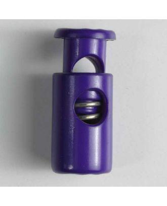 Kordelstopper rund mit Feder - Größe: 28mm - Farbe: lila - Art.Nr. 280518