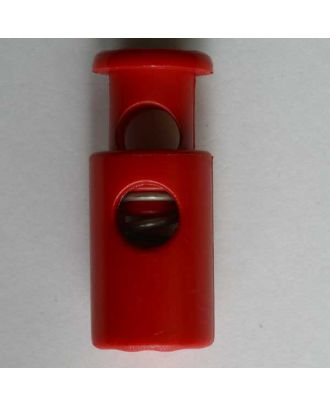 Kordelstopper rund mit Feder - Größe: 28mm - Farbe: rot - Art.Nr. 280513