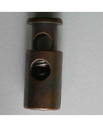 Kordelstopper rund mit Feder - Größe: 28mm - Farbe: kupfer - Art.Nr. 330118