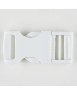 Steckschließe aus Polyamid - Größe: 30mm - Farbe: weiss - Art.Nr. 400905