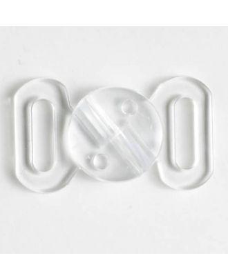 Schließe - Größe: 10mm - Farbe: transparent - Art.-Nr.: 330910