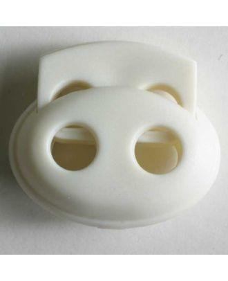 Kordelstopper oval - Größe: 23mm - Farbe: weiß - Art.Nr. 280799