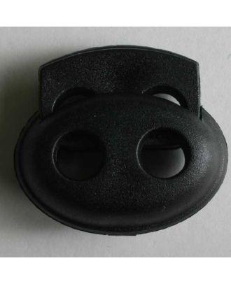 Kordelstopper oval - Größe: 23mm - Farbe: schwarz - Art.Nr. 280800