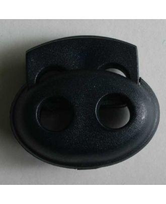 Kordelstopper oval - Größe: 23mm - Farbe: blau - Art.Nr. 280802