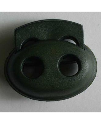 Kordelstopper oval - Größe: 23mm - Farbe: grün - Art.Nr. 280803