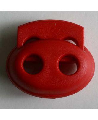 Kordelstopper oval - Größe: 23mm - Farbe: rot - Art.Nr. 280804