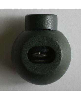 rundlicher Kordelstopper - Größe: 20mm - Farbe: grün - Art.Nr. 280809