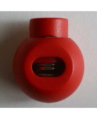 rundlicher Kordelstopper - Größe: 20mm - Farbe: rot - Art.Nr. 280810