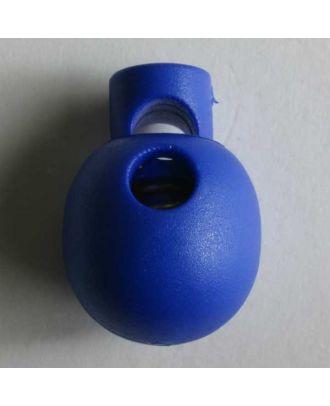 perlenförmiger Kordelstopper - Größe: 18mm - Farbe: blau - Art.Nr. 260981