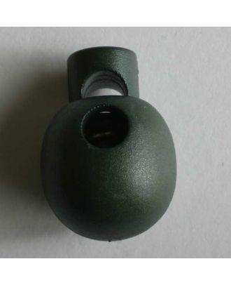 perlenförmiger Kordelstopper - Größe: 18mm - Farbe: grün - Art.Nr. 260983