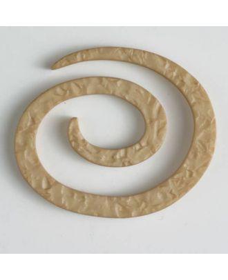 Kunststoff-Spiralverschluss zum Eindrehen, schlangenförmig - Größe: 50mm - Farbe: beige - Art.Nr. 450143